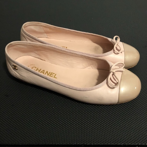 70df89b4ddd CHANEL Shoes - Chanel Coco Jazz Pink Lambskin Cap Toe Flats 37.5
